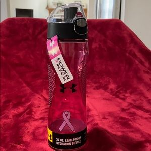 BNWT Under Armour Pink Breast Cancer Water Bottle